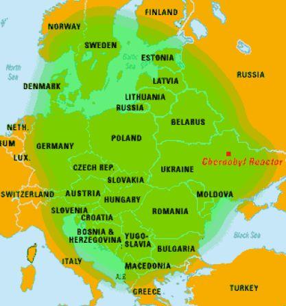 Tschernobyl Wolke
