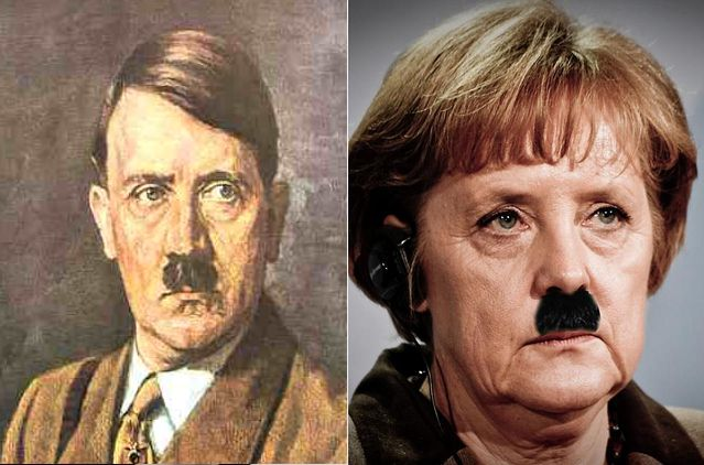 Angela Merkel vs Adolf Hitler - YouTube