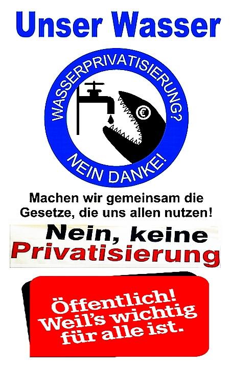 Keine Privatisierung von Trinkwasser