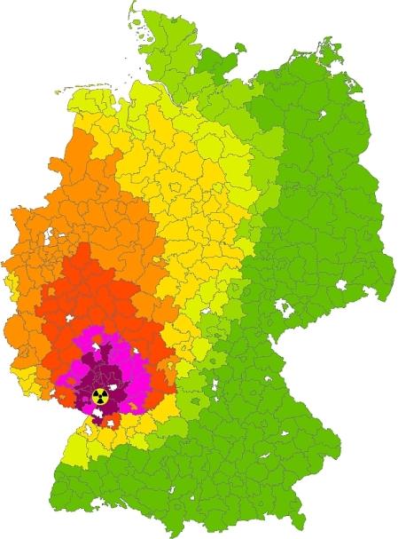 Kontaminationskarte Deutschland