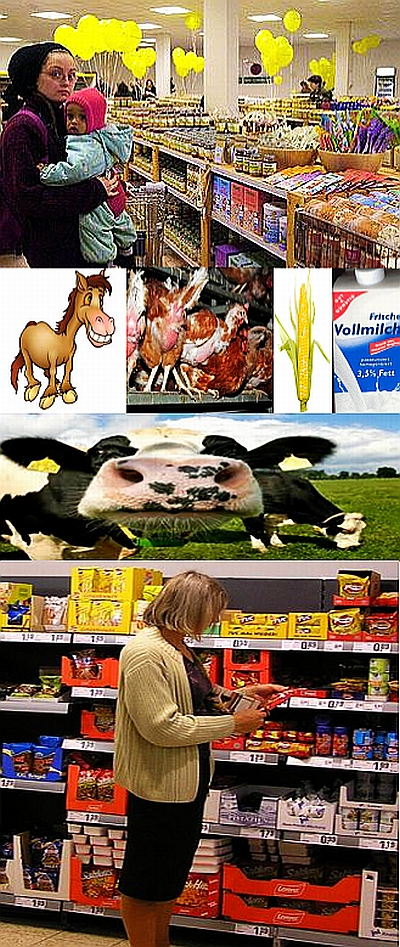 Langsam wird das Kaufen von Lebensmitteln schwierig