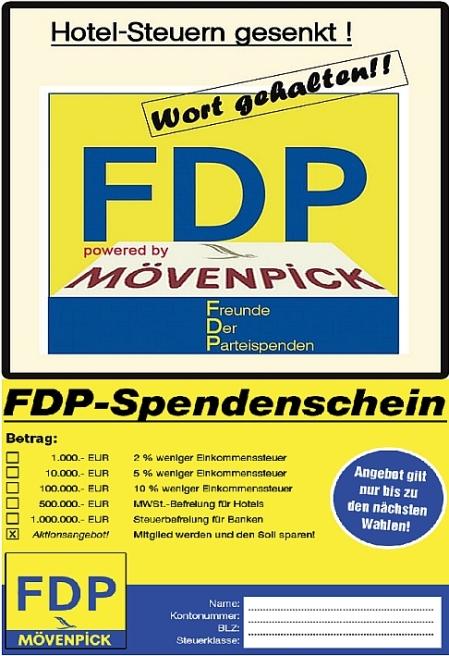 Nicht nur für Mövenpick käuflich - FDP