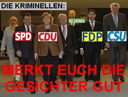 Die Volksverräter: CDU/CSU,SPD, FDP, Die Grünen