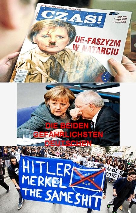 Merkel ist das Feindbild in der Krise