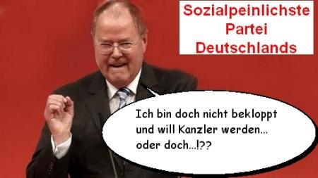 SPD - Steinbrück offiziell bekloppt