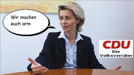 von der Leyen CDU-Volksverräter