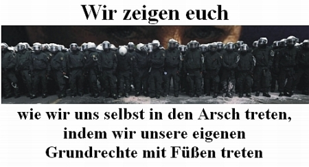 Blockupy - Polizei - verdummte Staatsgewalt