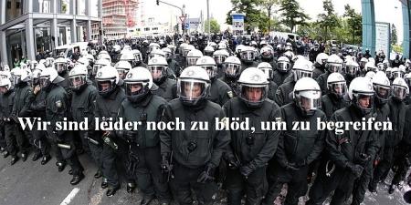 Blockupy - Polizei zu blöd