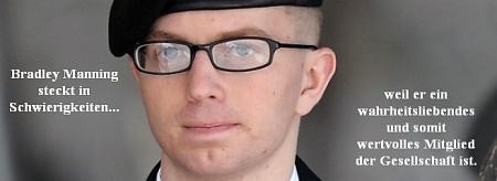 Bradley Manning - Wikileaks-Informant