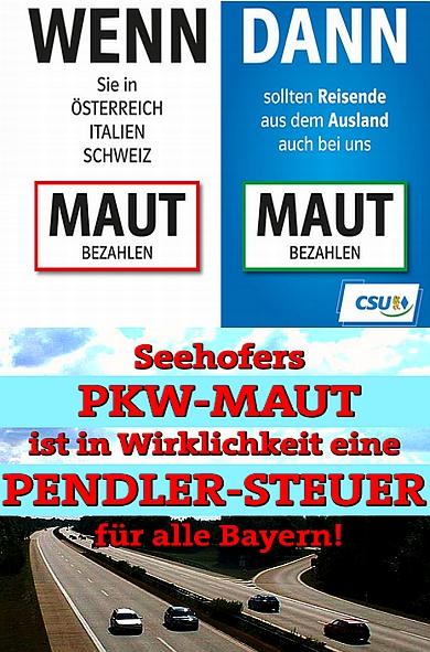 MAUT - Ablenkungsmannöver - inszeniert von Merkel und Seehofer
