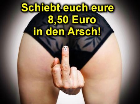Schiebt euch eure 8,50 Euro in den Arsch