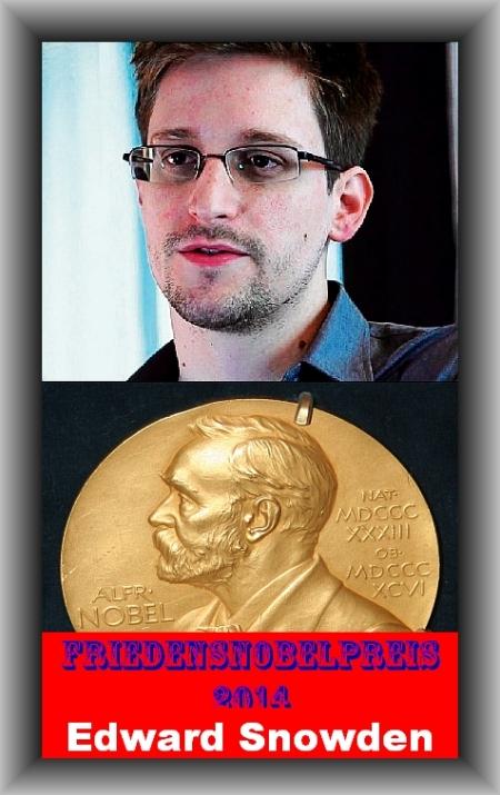 Friedensnobelpreis 2014 Edward Snowden