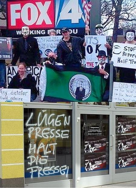 Massenproteste gegen Mainstream-Medien