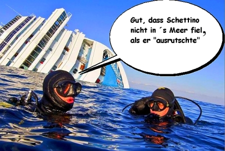 Schettino sprang in Rettungsboot