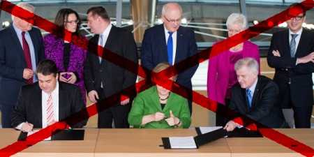 CDU-CSU-SPD-Koalition offenbar verfassungswidrig