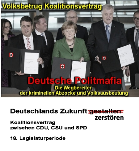 Koalitionsvertrag ein einziger Schwindel