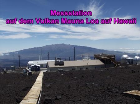 Messstation auf dem Vulkan Mauna Loa auf Hawaii