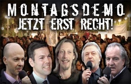 Montagsdemo Mahnwache - Wie sich Medien und Ditfurth demontieren