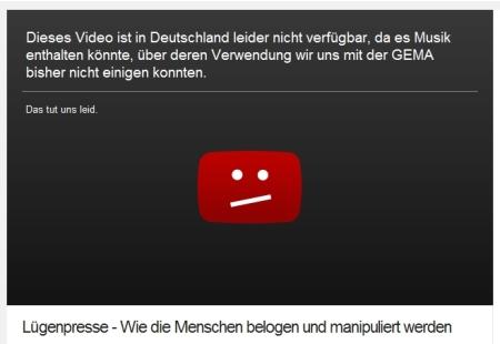 Und so beteiligt sich YouTube an der Zensur
