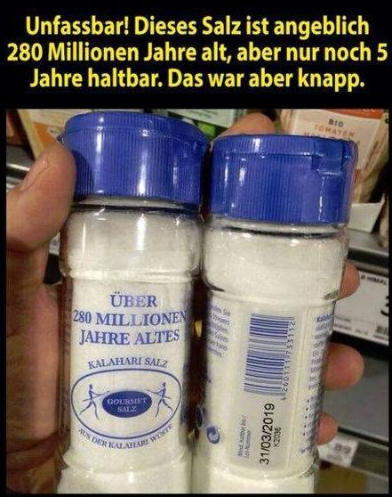 Angeblich hochwertiges Salz