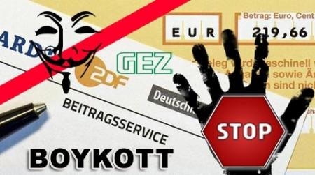 Aufruf zum deutschlandweiten GEZ-Beitragsservice-Boykott