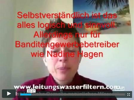 Wasserfilter - mit Berufslügnerin Nadine Hagen