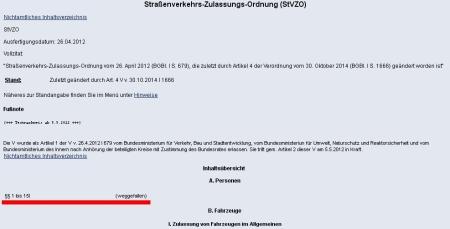 § 2 STVZO gestrichen - Führerschein Fahrelaubnis unnötig -