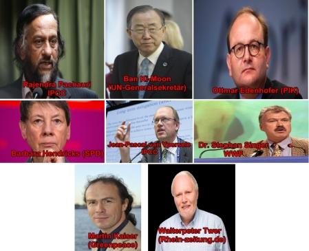 Schwerkriminelle Klimaschwindler - Hier mal ein einige Gesichter