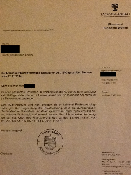 Finanzamt Bitterfeld-Wolfen
