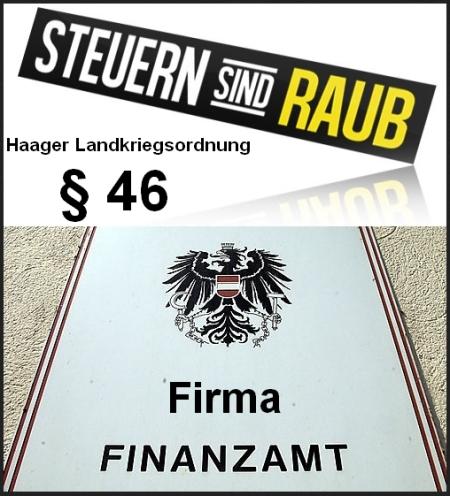 Steuern sind Raub - Firma Finanzamt
