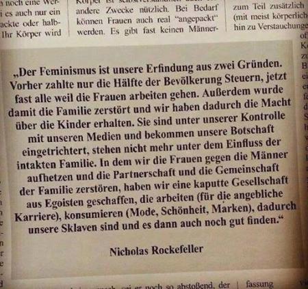 Nicholas Rockefeller - Feminismus
