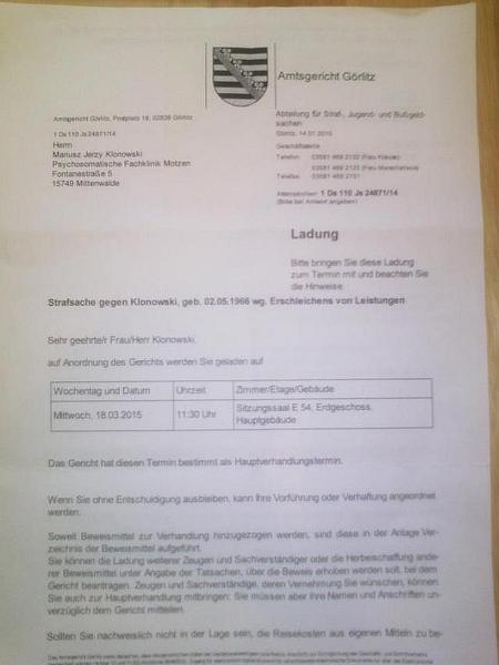 Anklage wegen 1,40 Euro 3