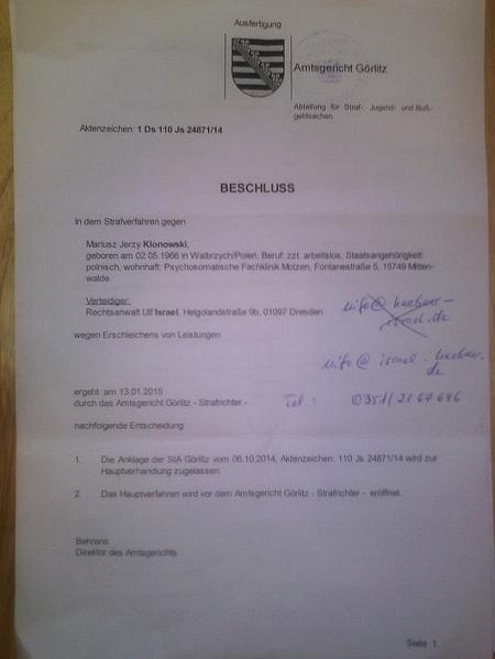 Anklage wegen 1,40 Euro 4