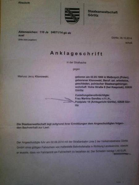 Anklage wegen 1,40 Euro