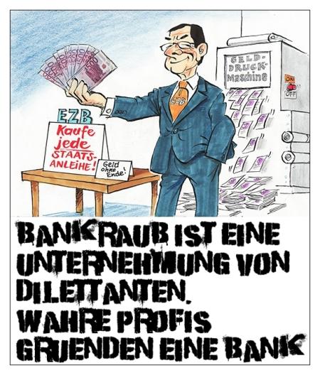 Die Europäische Zentralbank ist schwerkriminell
