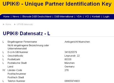 Firma Amtsgericht München