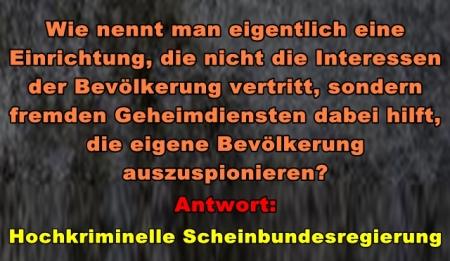 Hochkriminelle Scheinbundesregierung