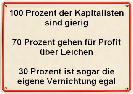Kapitalisten sind gierig