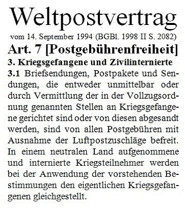 Weltpostvertrag