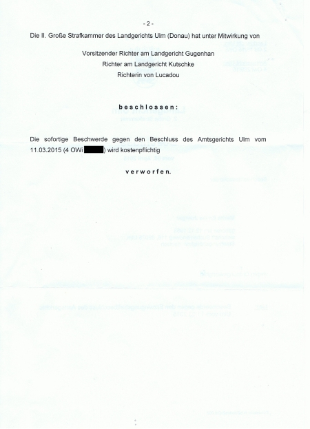 Beschluss des LG Ulm vom 08.04.15 Seite 2[1]