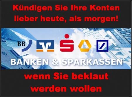 Banken und Sparkassen veruntreuen Kundengelder... einfach so