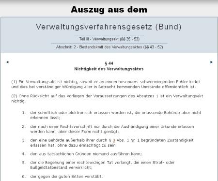 Polizei aufgepasst – BVwVfG 44 - Nichtigkeit des Verwaltungsaktes