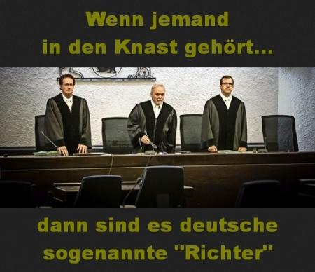 Rechtsbankrott - Richter massiv strafverdächtig....