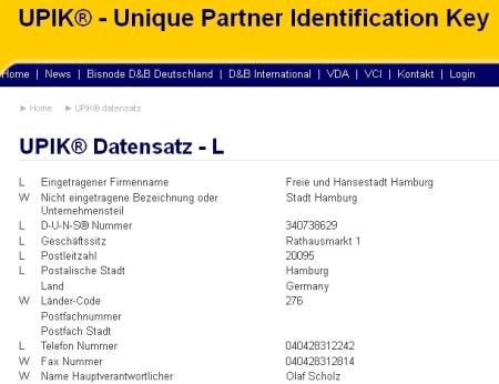 Firma Hansestadt Hamburg