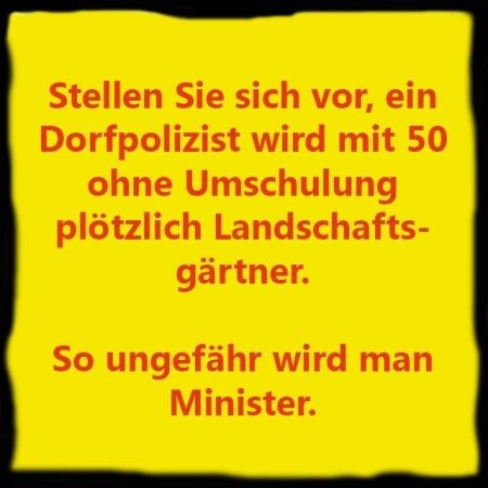 Wie wird man Minister