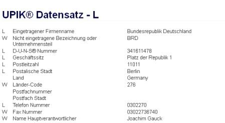 Firma Bundesrepublik Deutschland