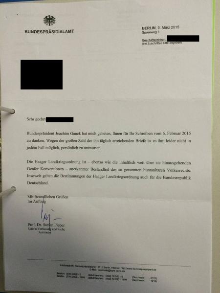 Gauck bestätigt Gültigkeit der HLKO