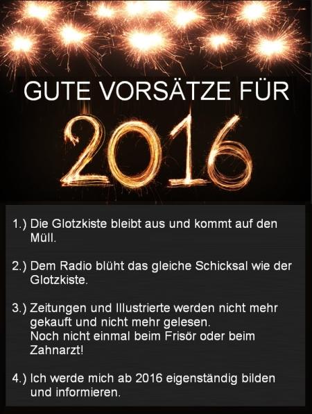 Gute Vorsätze für 2016