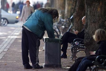 Armut in Deutschland weit verbreitet..