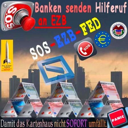 Dunkle Wolken - Banken senden Hilferuf an EZB-Chef.